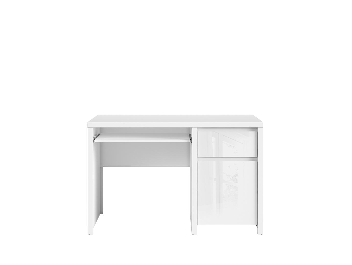 PC stolek - BRW - Kaspian - BIU1D1S/120 (bílá + lesk bílý)