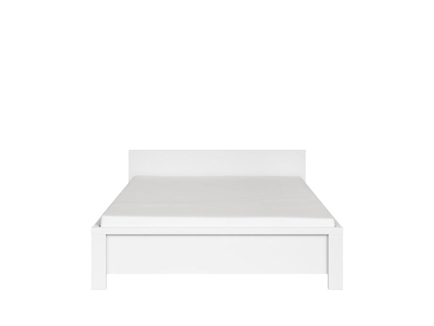 Manželská postel 140 cm - BRW - Kaspian - LOZ/140 (bílá)