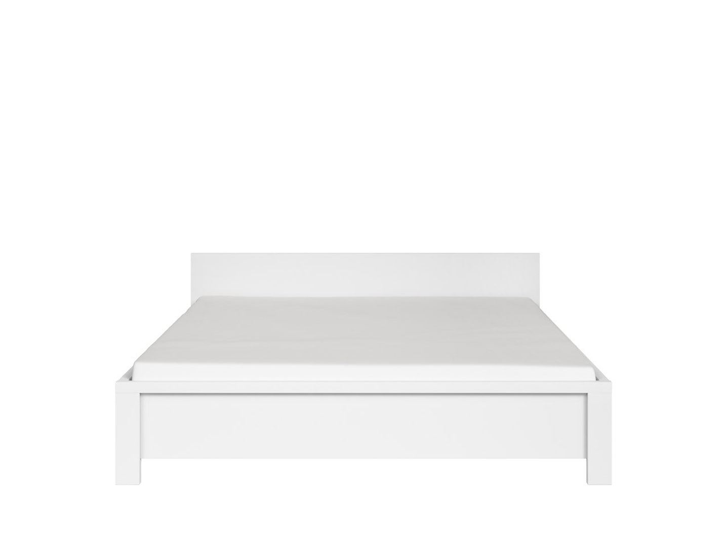 Manželská postel 160 cm - BRW - Kaspian - LOZ/160 (bílá + bílá matná)