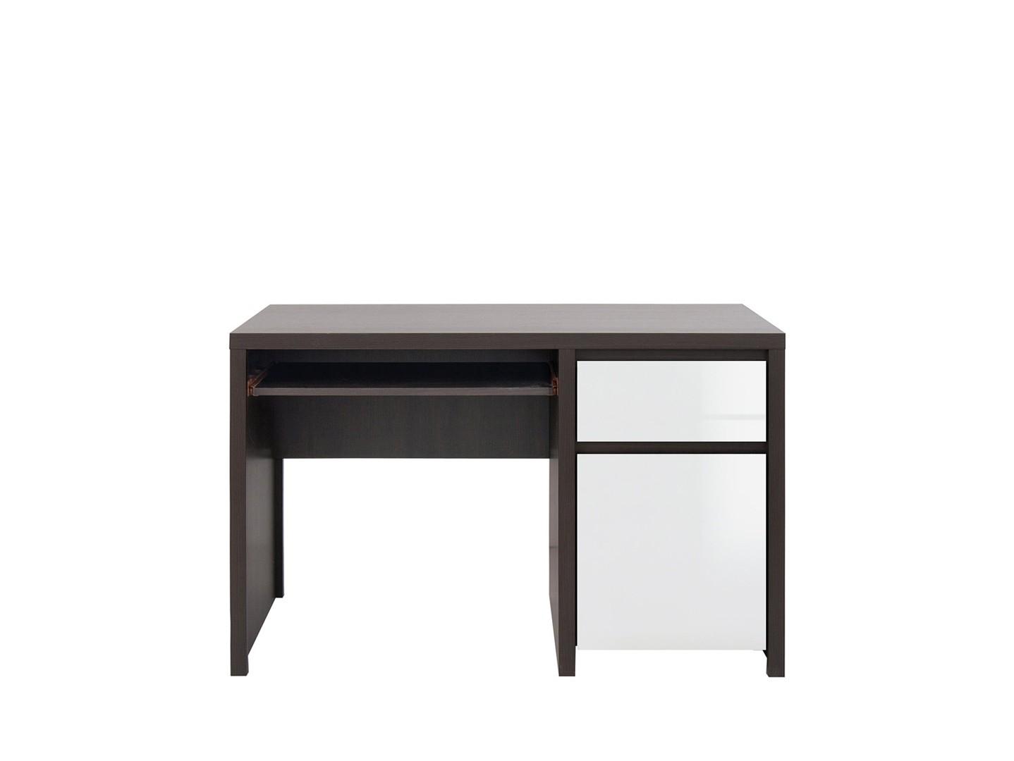 PC stolek - BRW - Kaspian - BIU1D1S/120 (wenge + lesk bílý)
