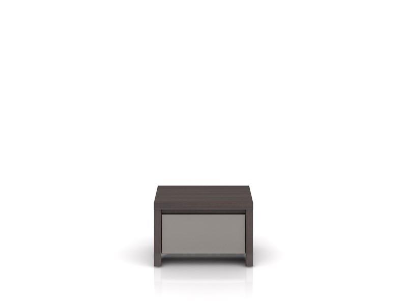 Noční stolek - BRW - Kaspian - KOM1S (wenge + vysoký lesk šedý)