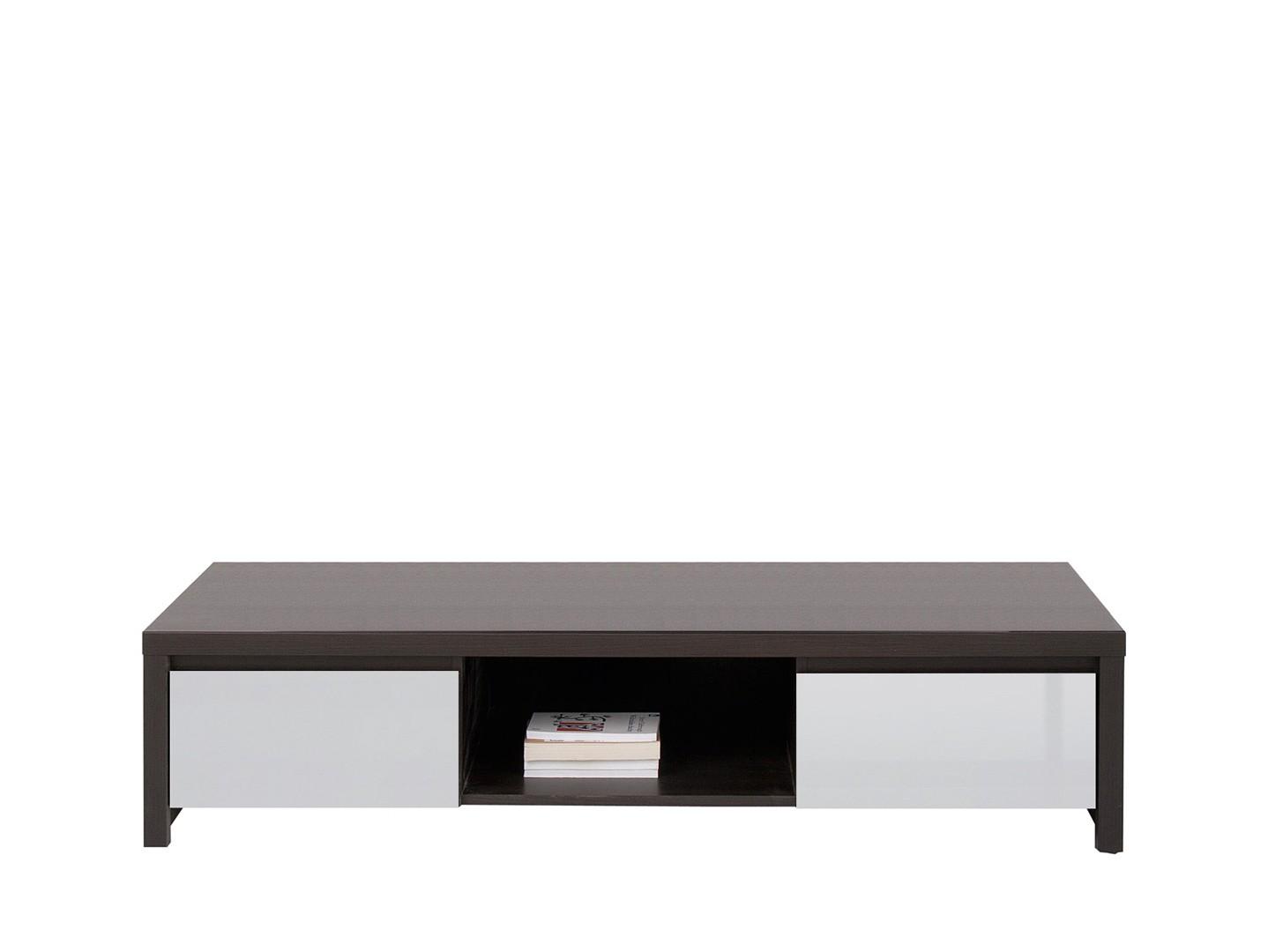 TV stolek - BRW - Kaspian - RTV2S (wenge + vysoký lesk šedý)