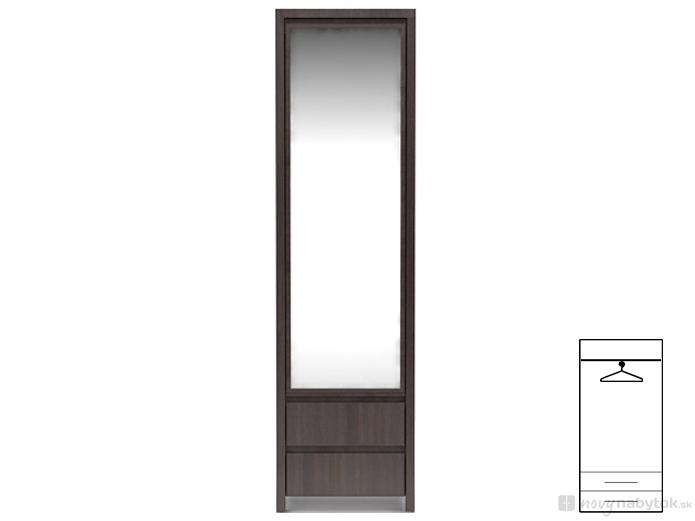 Šatní skříň - BRW - Kaspian - SZF1D2SP (Wenge)