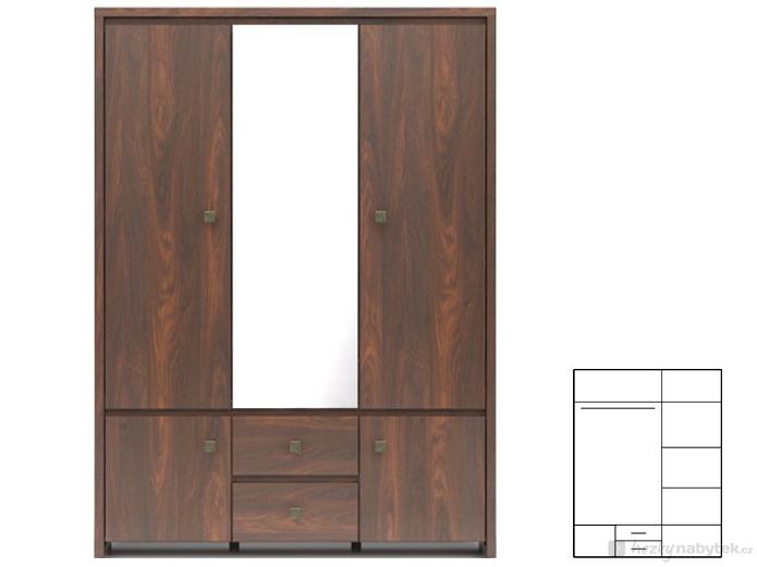Šatní skříň - BRW - Kaspian II - SZF5D2S