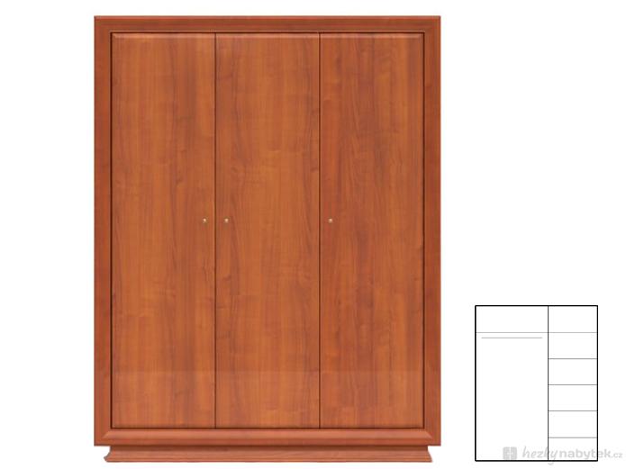 Šatní skříň - BRW - LARGO CLASSIC - SZF3D/21/16