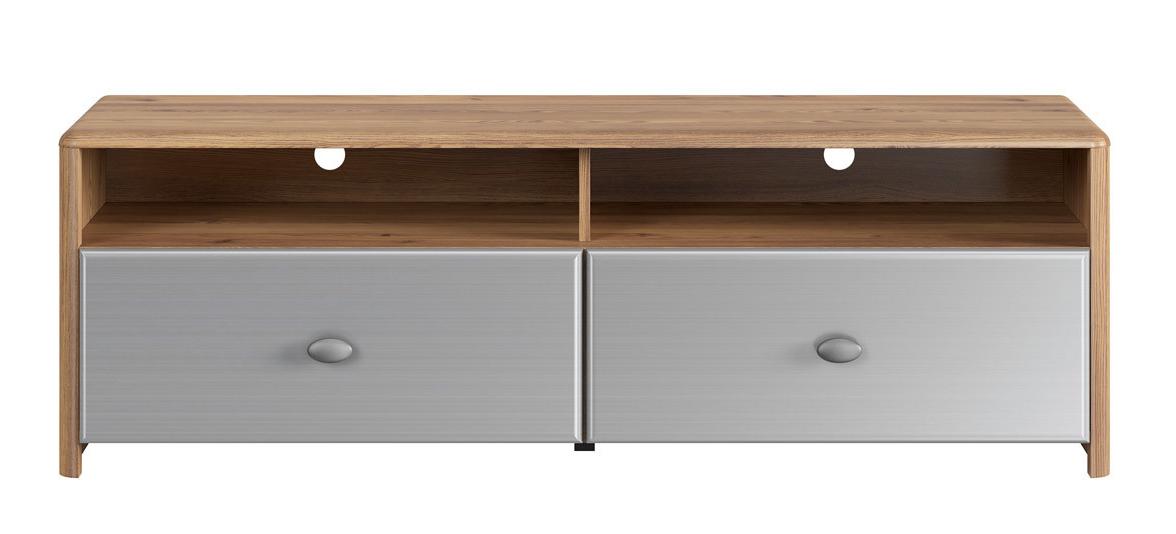 TV stolek/skříňka - BRW - Leda - RTV2S (Modřín sibiu zlatý + Silver Metal Inox)