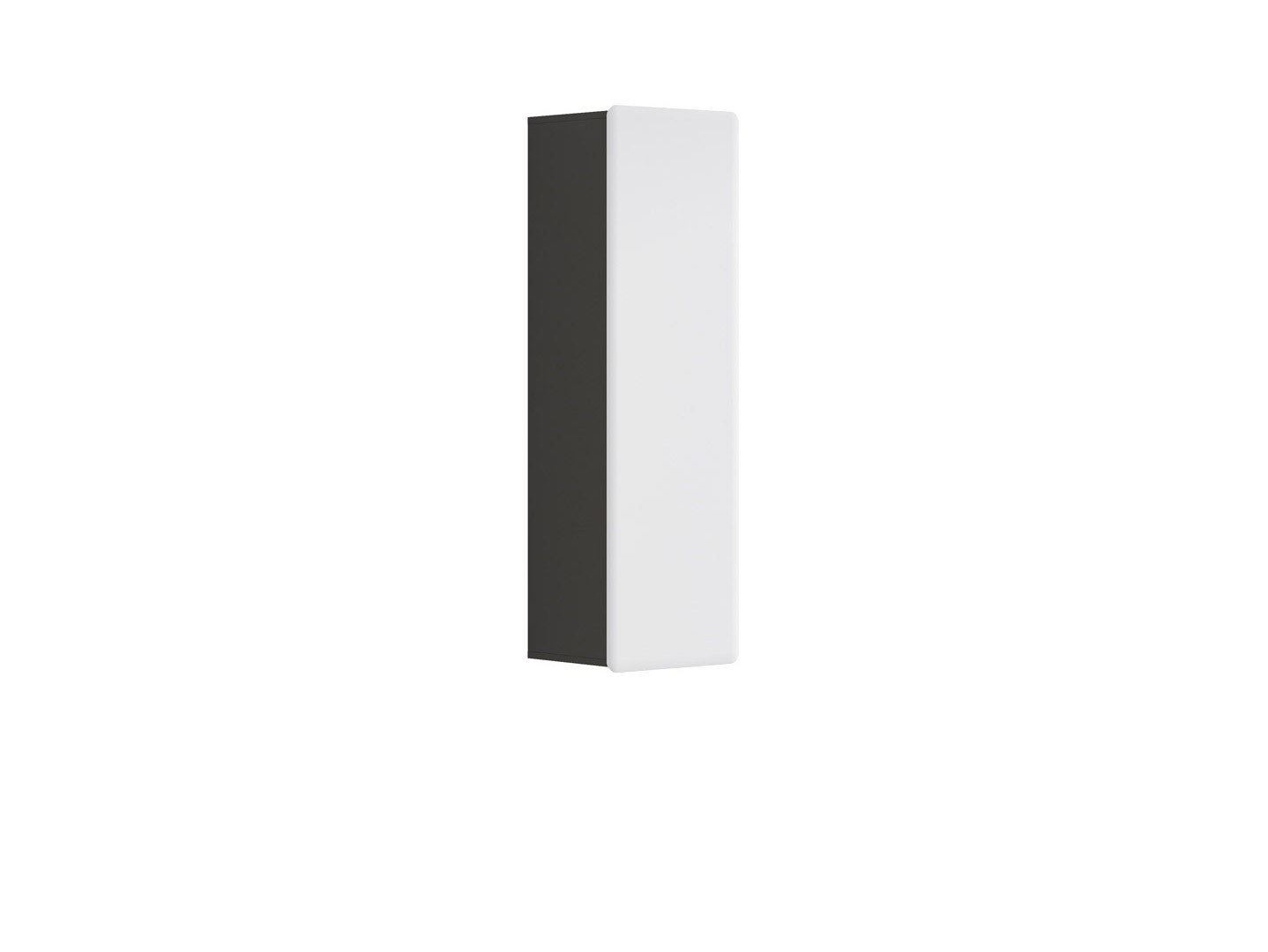 Skříňka na stěnu - BRW - Possi Light - SFW1D/13/4 (šedý wolfram + lesk bílý)
