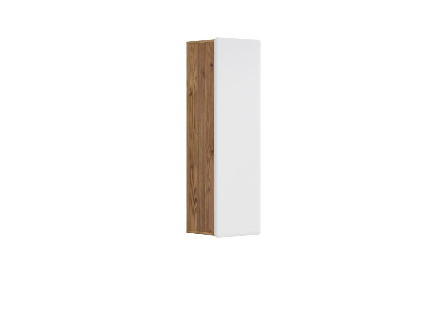 Skříňka na stěnu - BRW - Possi Light - SFW1D/13/4 (modřín sibiu zlatý + lesk bílý)
