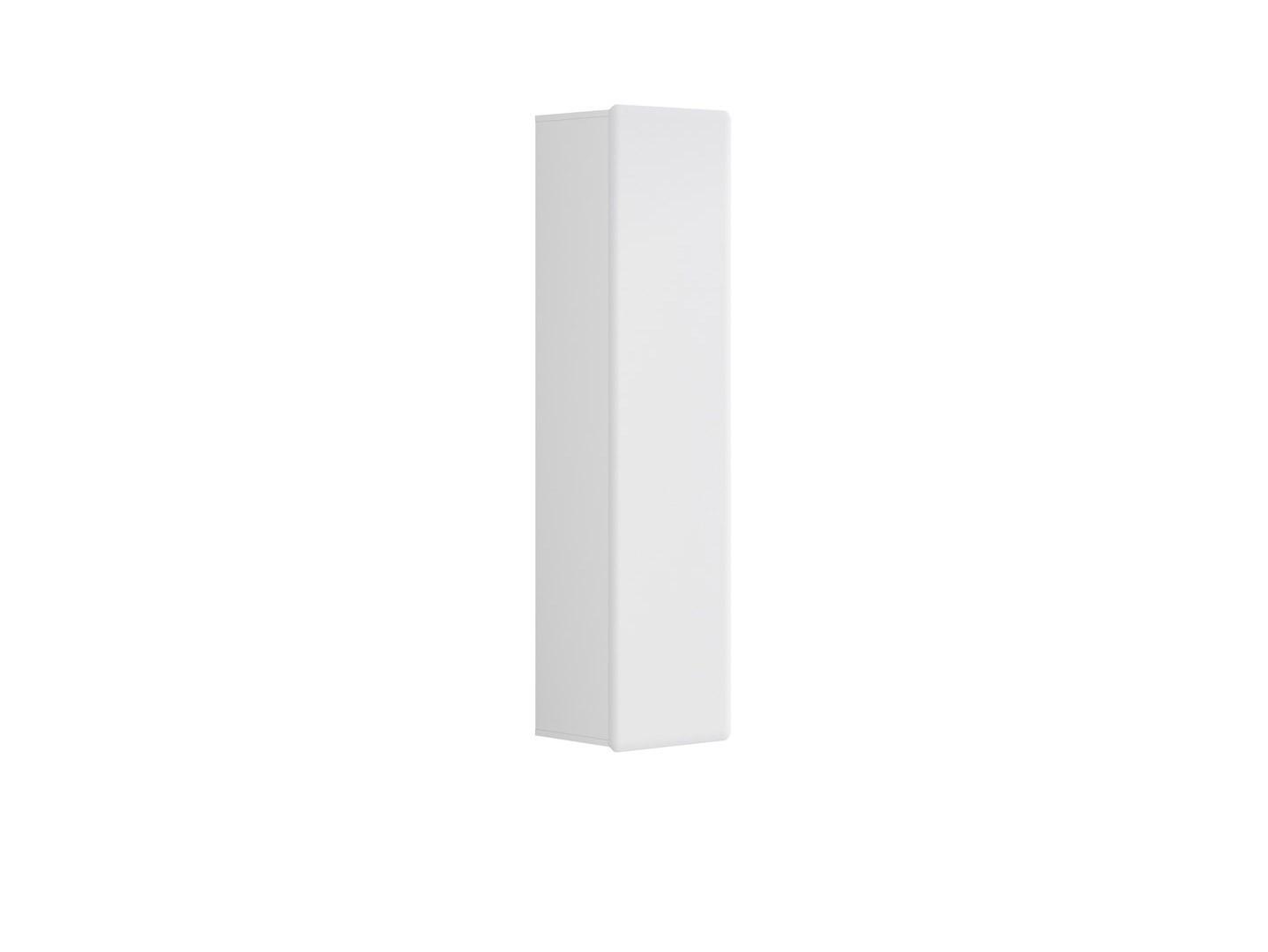 Skříňka na stěnu - BRW - Possi Light - SFW1D/16/4 (bílá + lesk bílý)