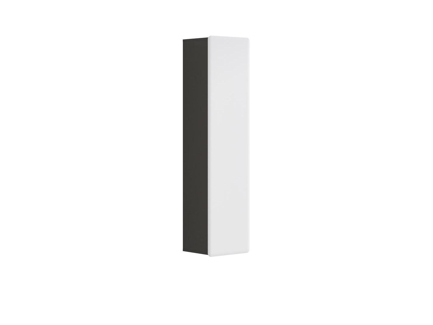 Skříňka na stěnu - BRW - Possi Light - SFW1D/16/4 (šedý wolfram + lesk bílý)