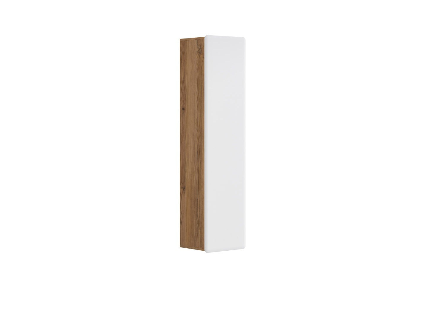 Skříňka na stěnu - BRW - Possi Light - SFW1D/16/4 (modřín sibiu zlatý + lesk bílý)
