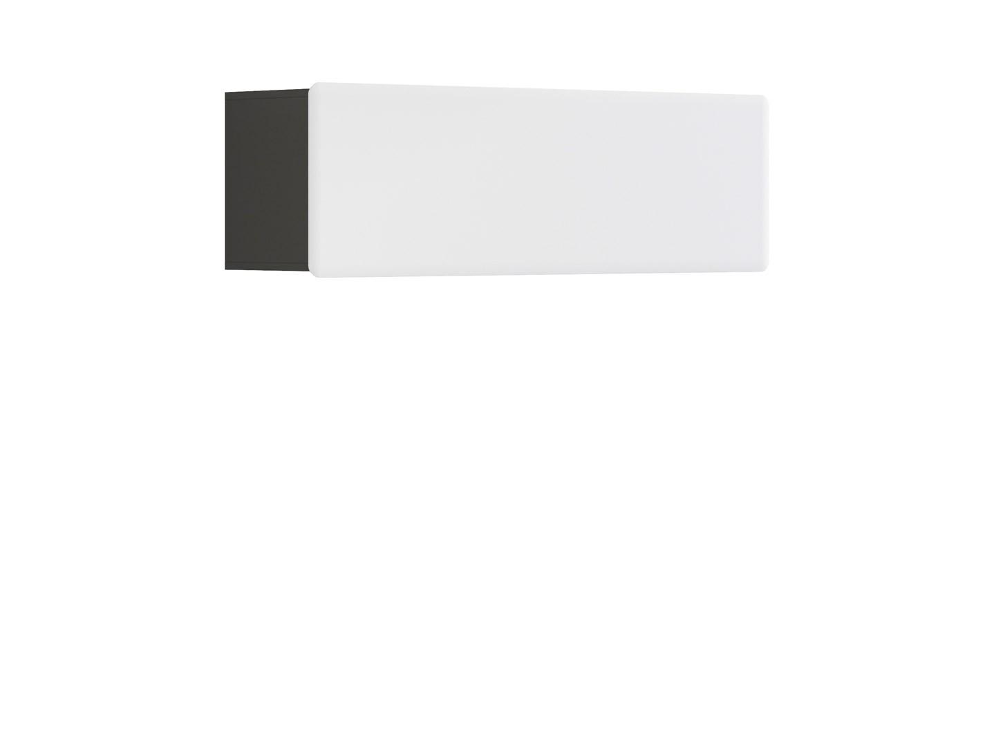 Polička - BRW - Possi Light - SFW1K/4/13 (šedý wolfram + lesk bílý)