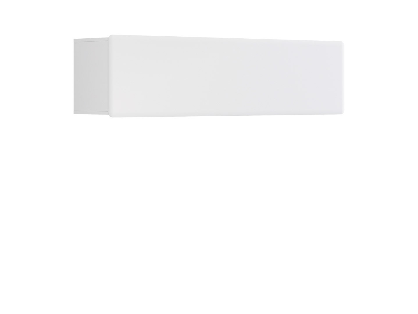 Polička - BRW - Possi Light - SFW1K/4/16 (bílá + lesk bílý)