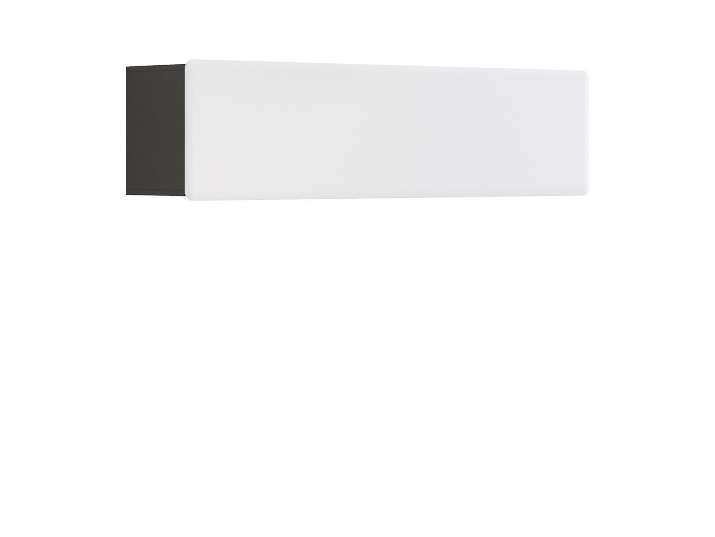 Polička - BRW - Possi Light - SFW1K/4/16 (šedý wolfram + lesk bílý)