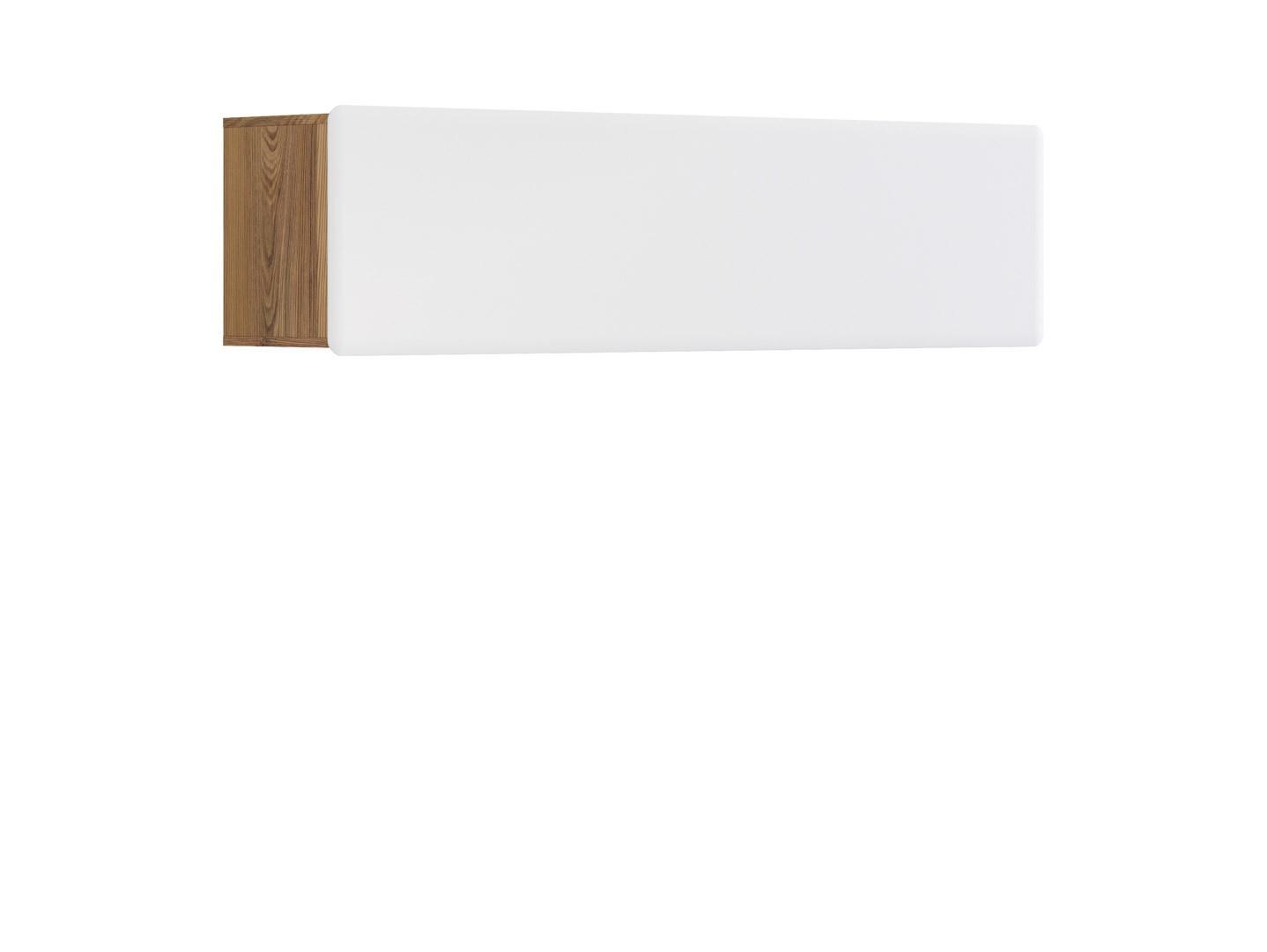 Polička - BRW - Possi Light - SFW1K/4/16 (modřín sibiu zlatý + lesk bílý)