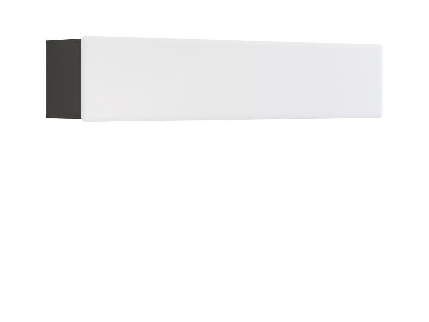 Polička - BRW - Possi Light SFW1K/4/20 (šedý wolfram + lesk bílý)