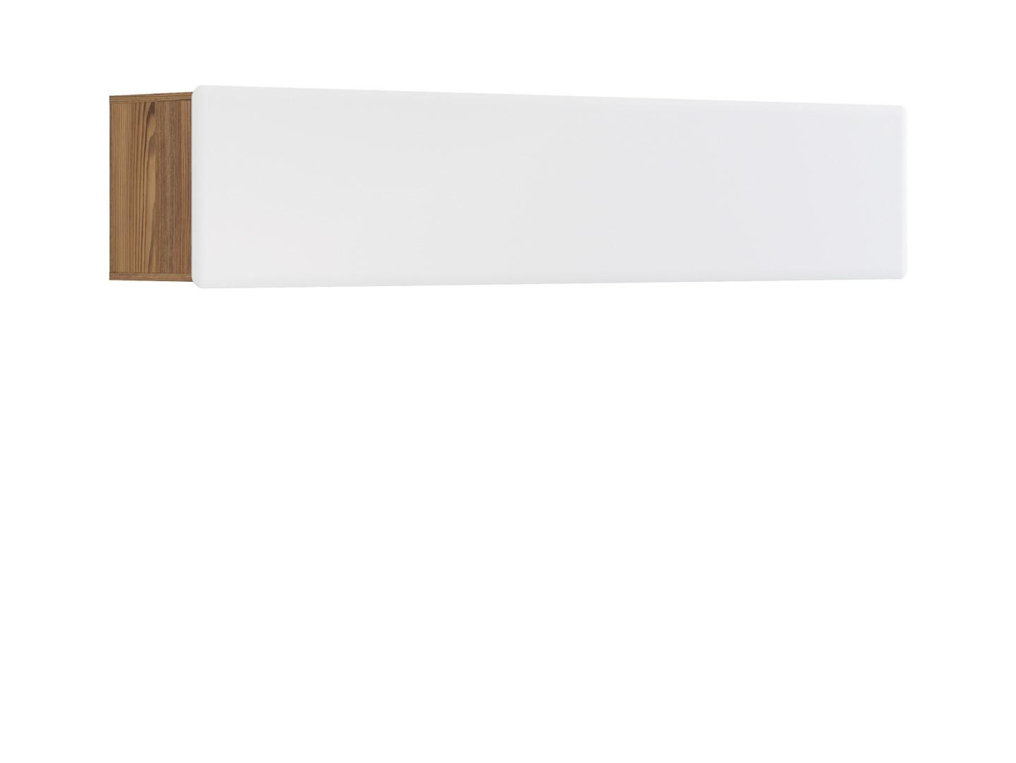 Polička - BRW - Possi Light SFW1K/4/20 (modřín sibiu zlatý + lesk bílý)