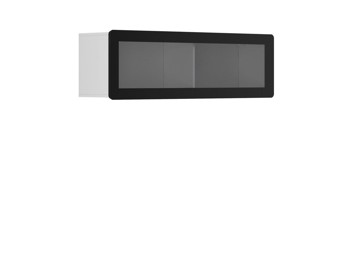 Vitrína na zeď - BRW - Possi Light - SFW1WK/4/13 (bílá) (s osvětlením)