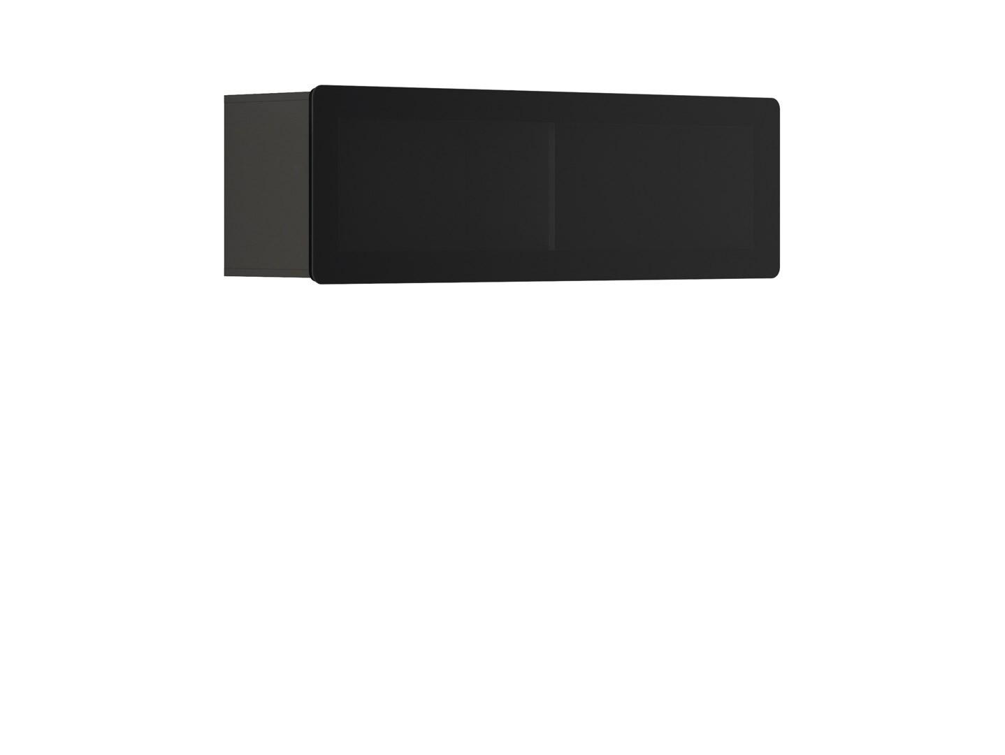 Vitrína na zeď - BRW - Possi Light - SFW1WK/4/13 (šedý wolfram) (s osvětlením)