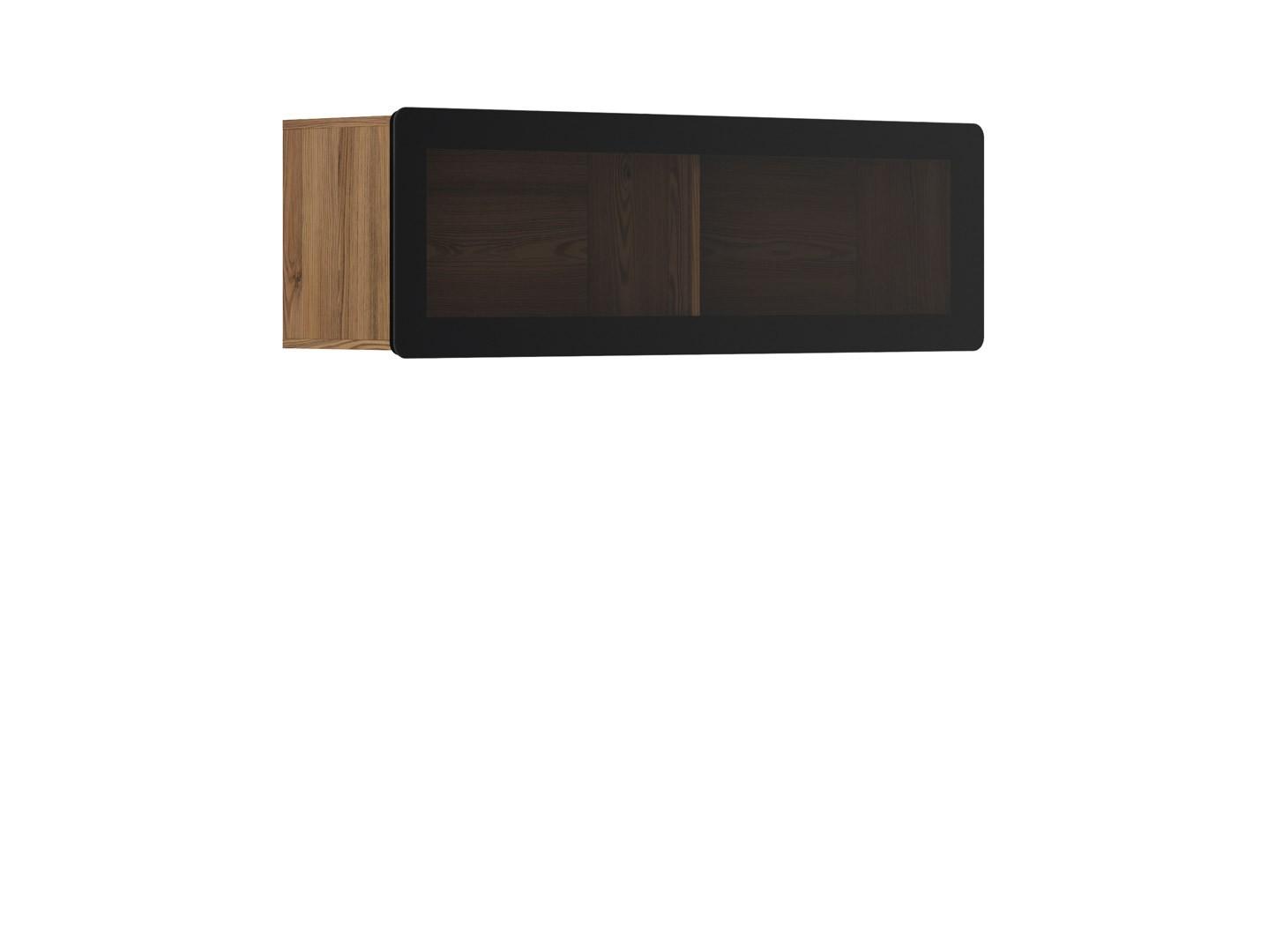 Vitrína na zeď - BRW - Possi Light - SFW1WK/4/13 (modřín sibiu zlatý) (s osvětlením)