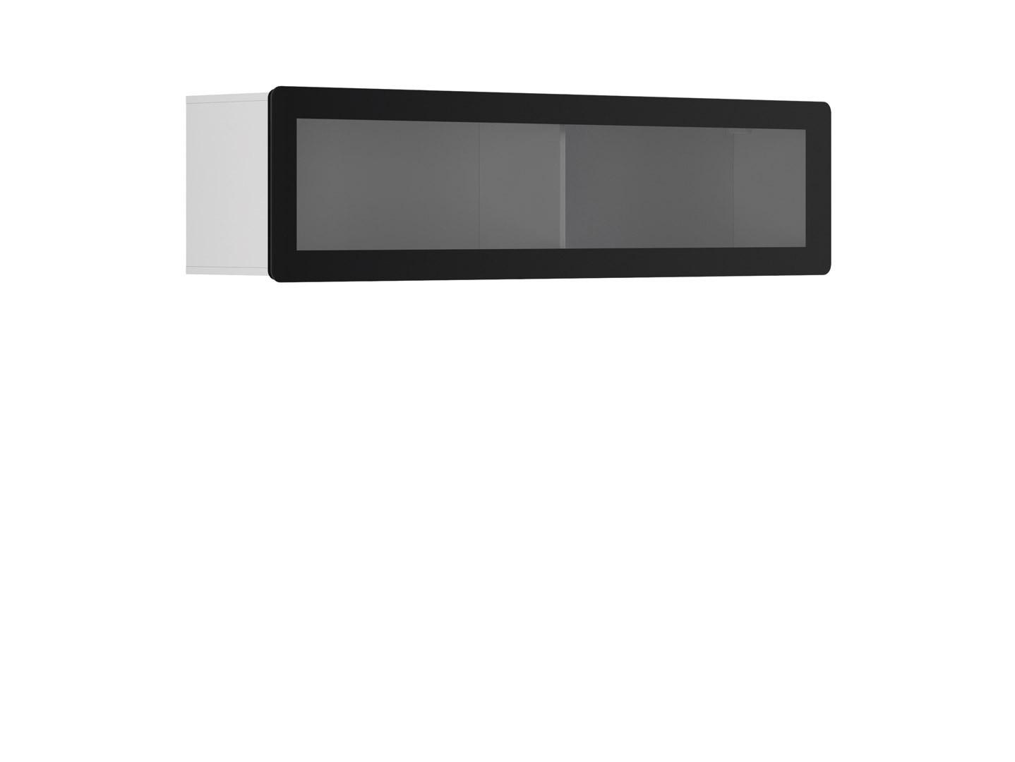Vitrína na zeď - BRW - Possi Light - SFW1WK/4/16 (bílá) (s osvětlením)