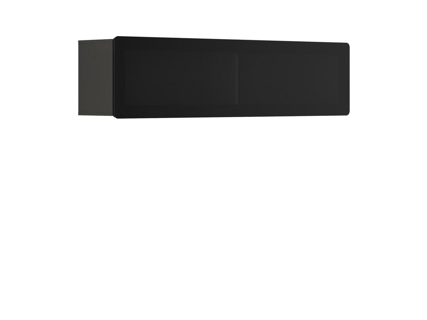 Vitrína na zeď - BRW - Possi Light - SFW1WK/4/16 (šedý wolfram) (s osvětlením)