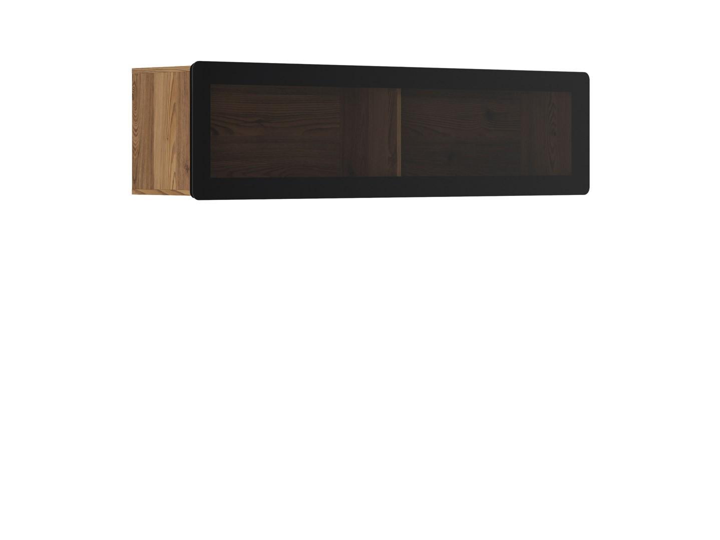 Vitrína na zeď - BRW - Possi Light - SFW1WK/4/16 (modřín sibiu zlatý) (s osvětlením)