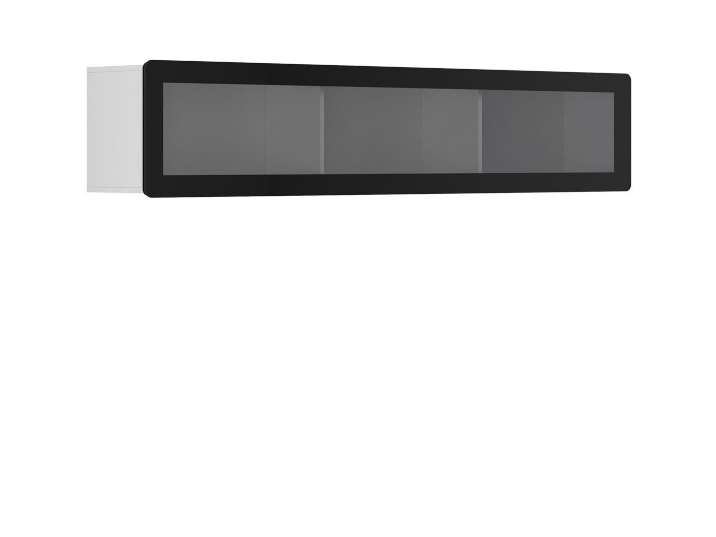 Vitrína na zeď - BRW - Possi Light - SFW1WK/4/20 (bílá) (s osvětlením)