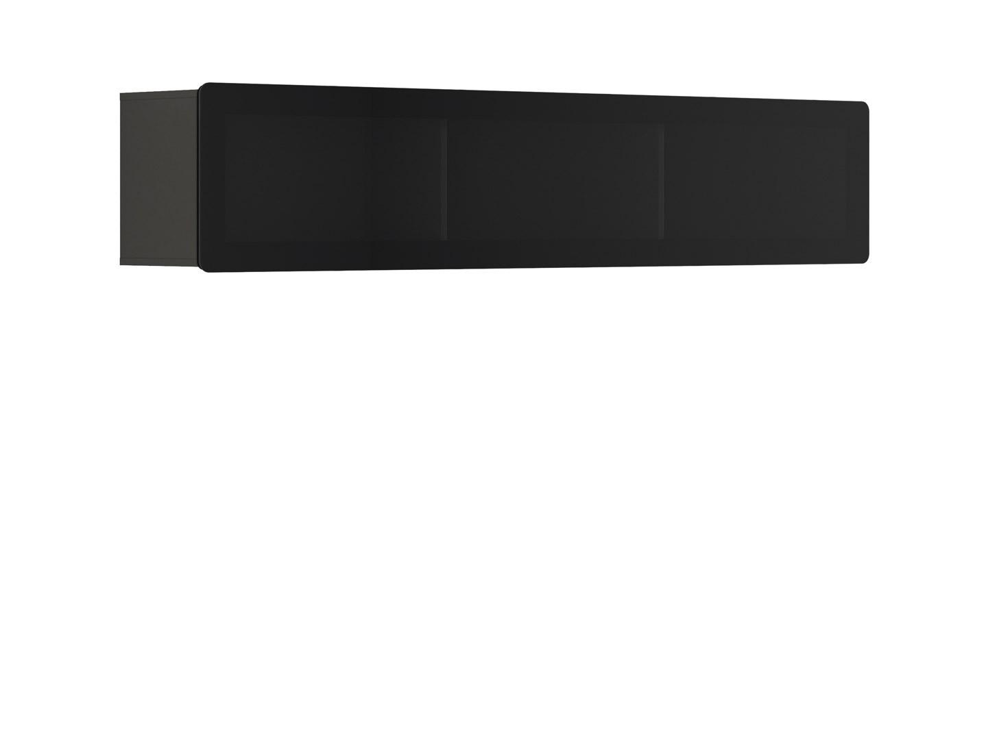 Vitrína na zeď - BRW - Possi Light - SFW1WK/4/20 (šedý wolfram) (s osvětlením)
