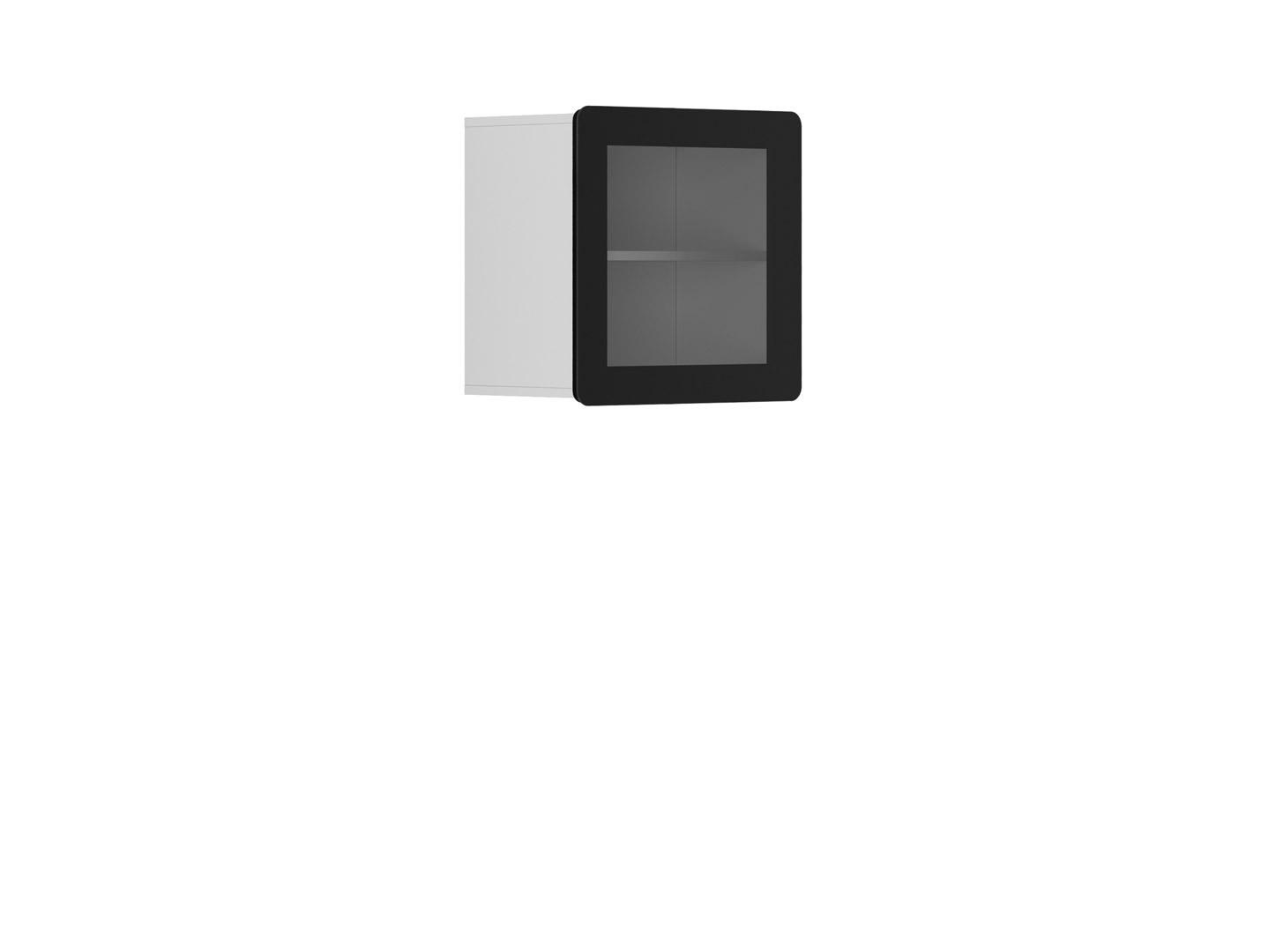 Vitrína na zeď - BRW - Possi Light - SFW1W/5/5 (bílá) (s osvětlením)