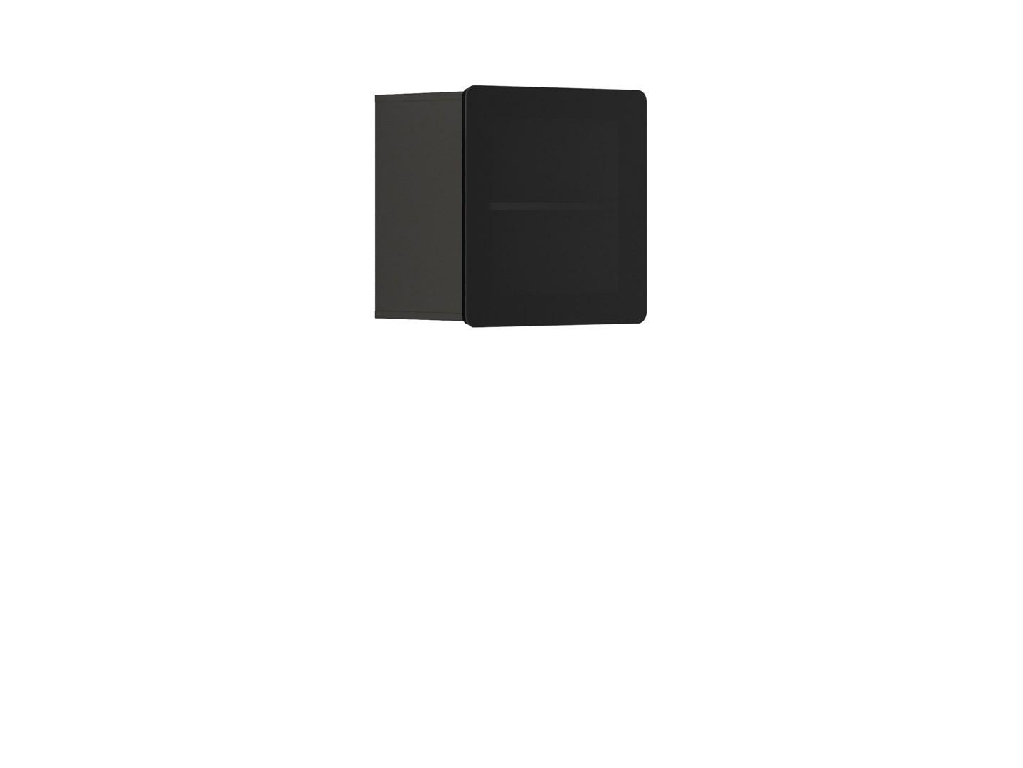 Vitrína na zeď - BRW - Possi Light - SFW1W/5/5 (šedý wolfram) (s osvětlením)