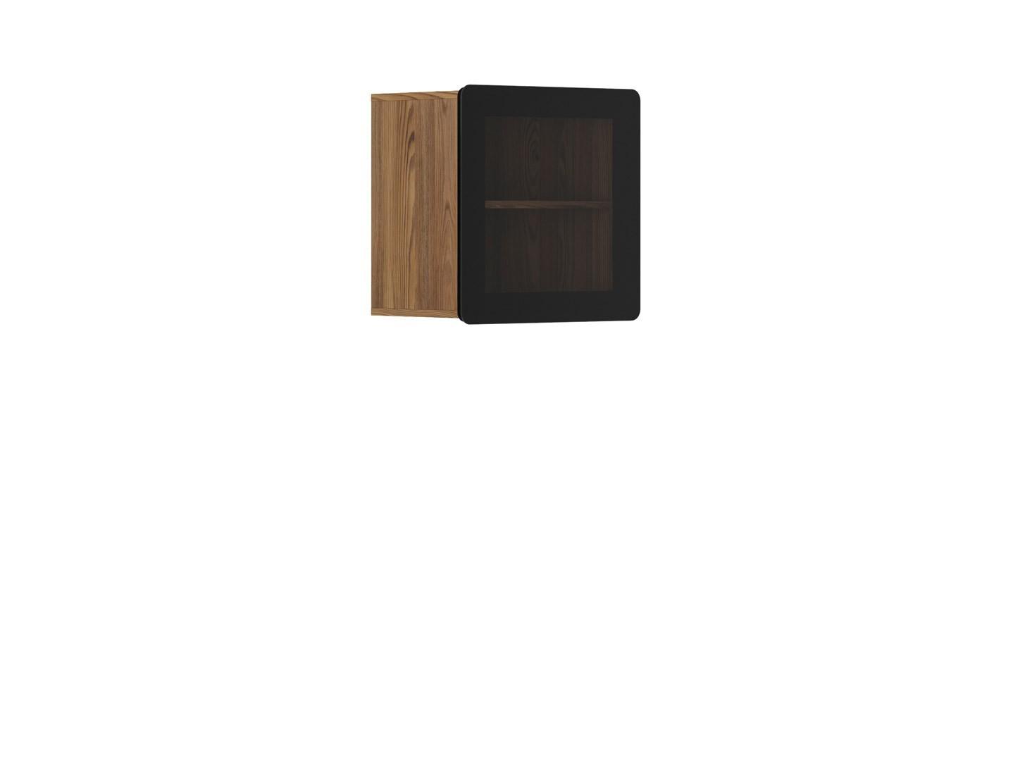 Vitrína na zeď - BRW - Possi Light - SFW1W/5/5 (modřín sibiu zlatý) (s osvětlením)