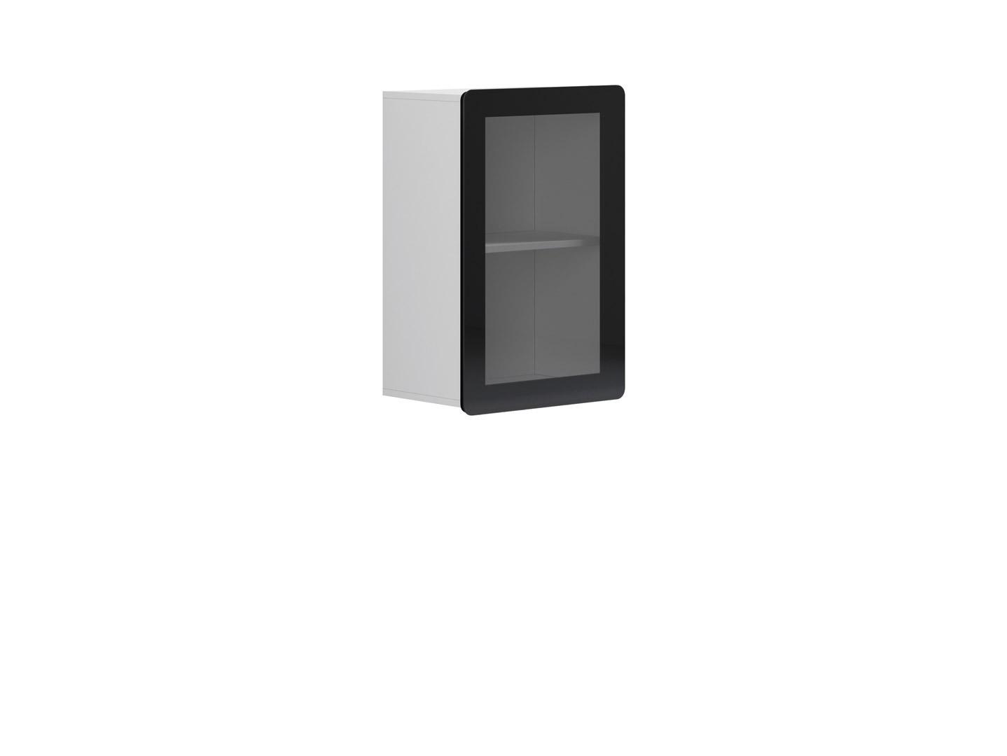 Vitrína na zeď - BRW - Possi Light - SFW1W/8/5 (bílá) (s osvětlením)