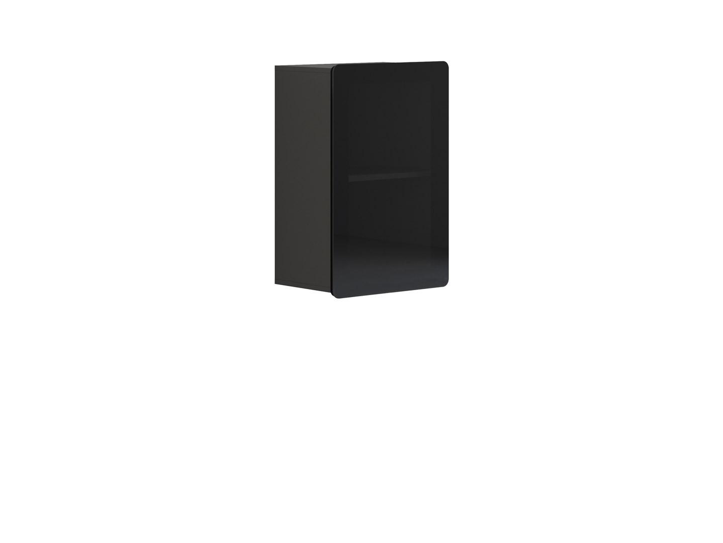 Vitrína na zeď - BRW - Possi Light - SFW1W/8/5 (šedý wolfram) (s osvětlením)