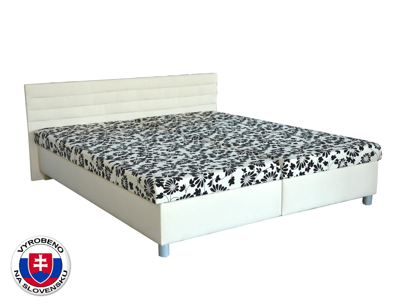 Manželská postel 160 cm - BRW - Etile (bílá) (s matracemi)