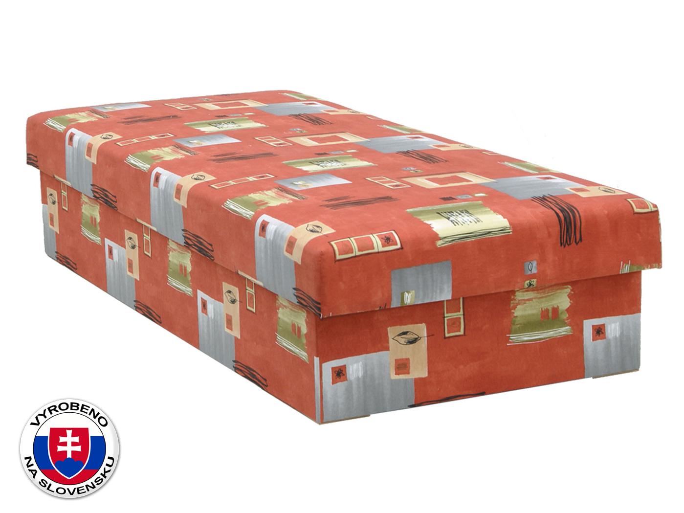 Jednolůžková postel (válenda) 80 cm - BRW - Ibiza XII (červená) (s matrací)