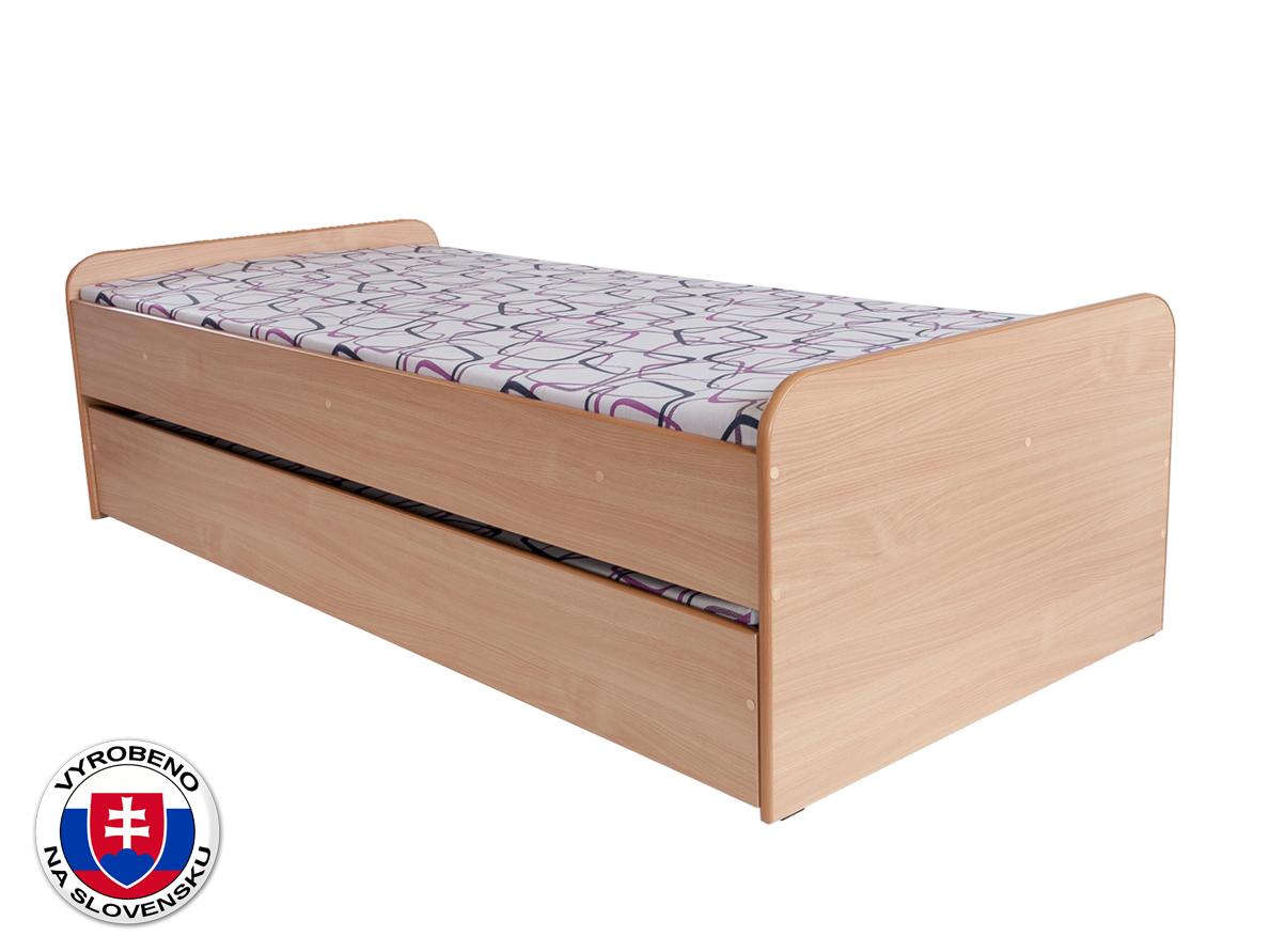 Jednolůžková postel 90 cm - BRW - Nika (s roštem)