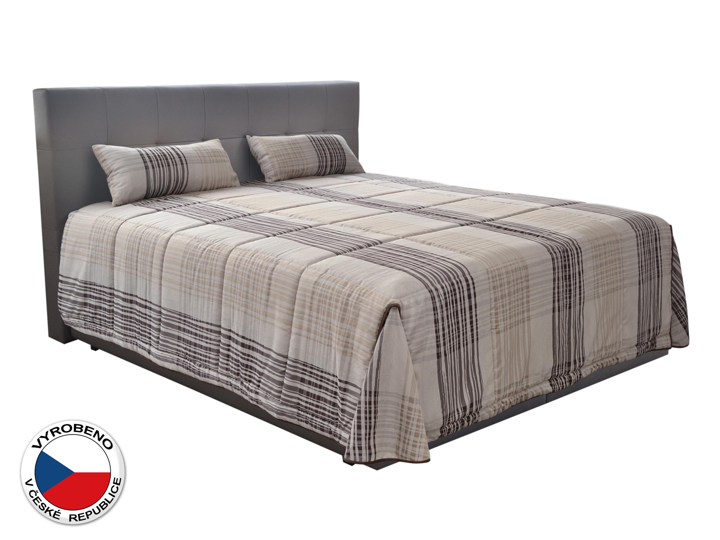 Manželská postel 180 cm - Blanář - Samba (béžová + hnědá) (s matracemi)