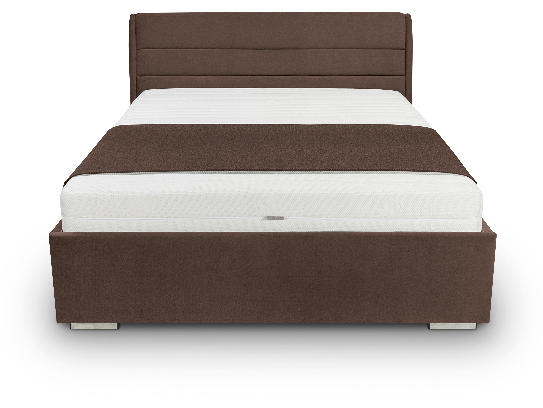 Jednolůžková postel 120 cm - BRW - Sandra Futon (hnědá)