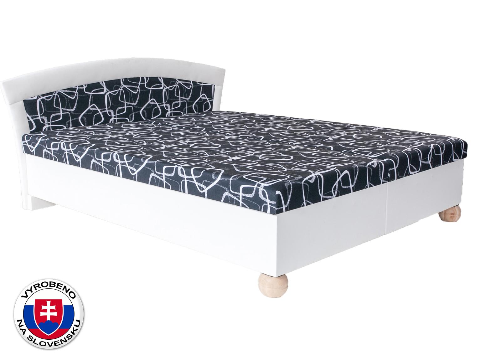 Manželská postel 160 cm - BRW - Brigita bílá (s matracom)