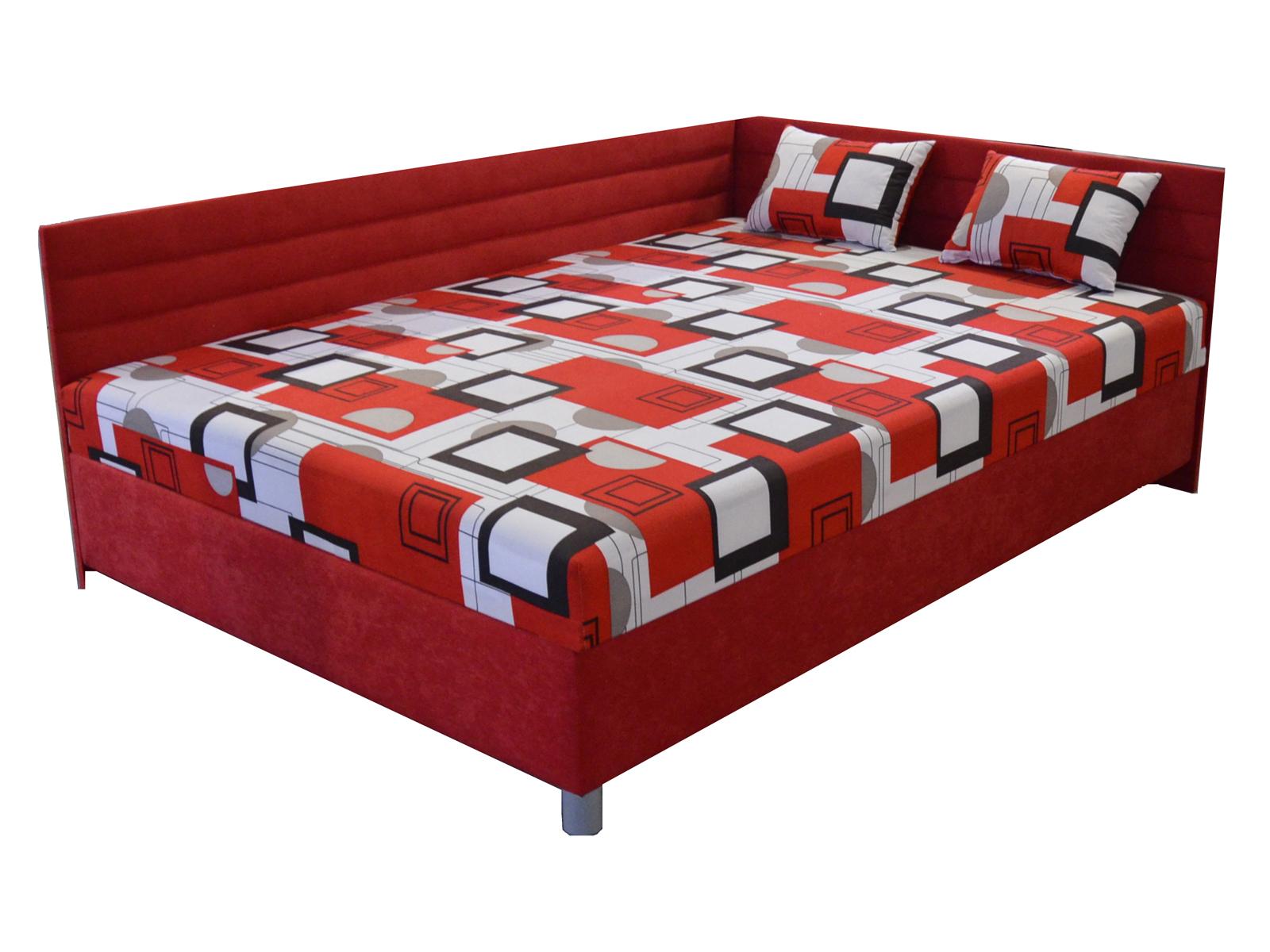 Jednolůžková postel (válenda) 110 cm - BRW - Elize (s roštem a matrací) (P)