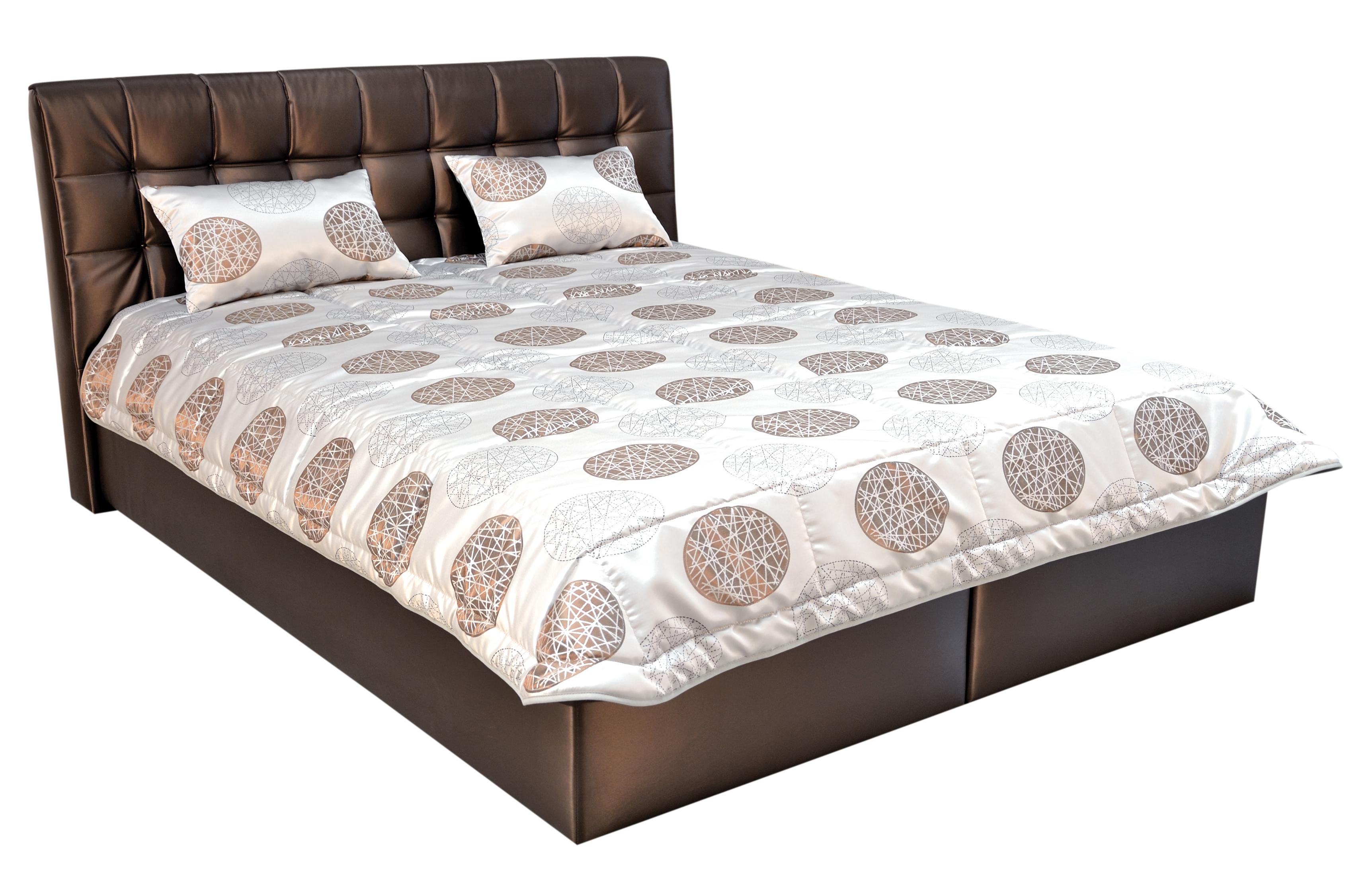 Manželská postel 160 cm - Blanář - Alberta (s rošty a matracemi)