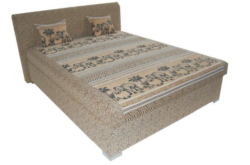 Manželská postel 160 cm - BRW - Chicago (s roštem a matrací)