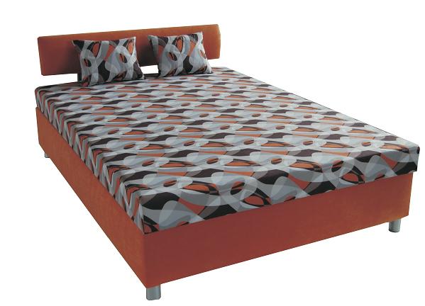 Manželská postel 140 cm - BRW - Dallas (s roštem a matrací)