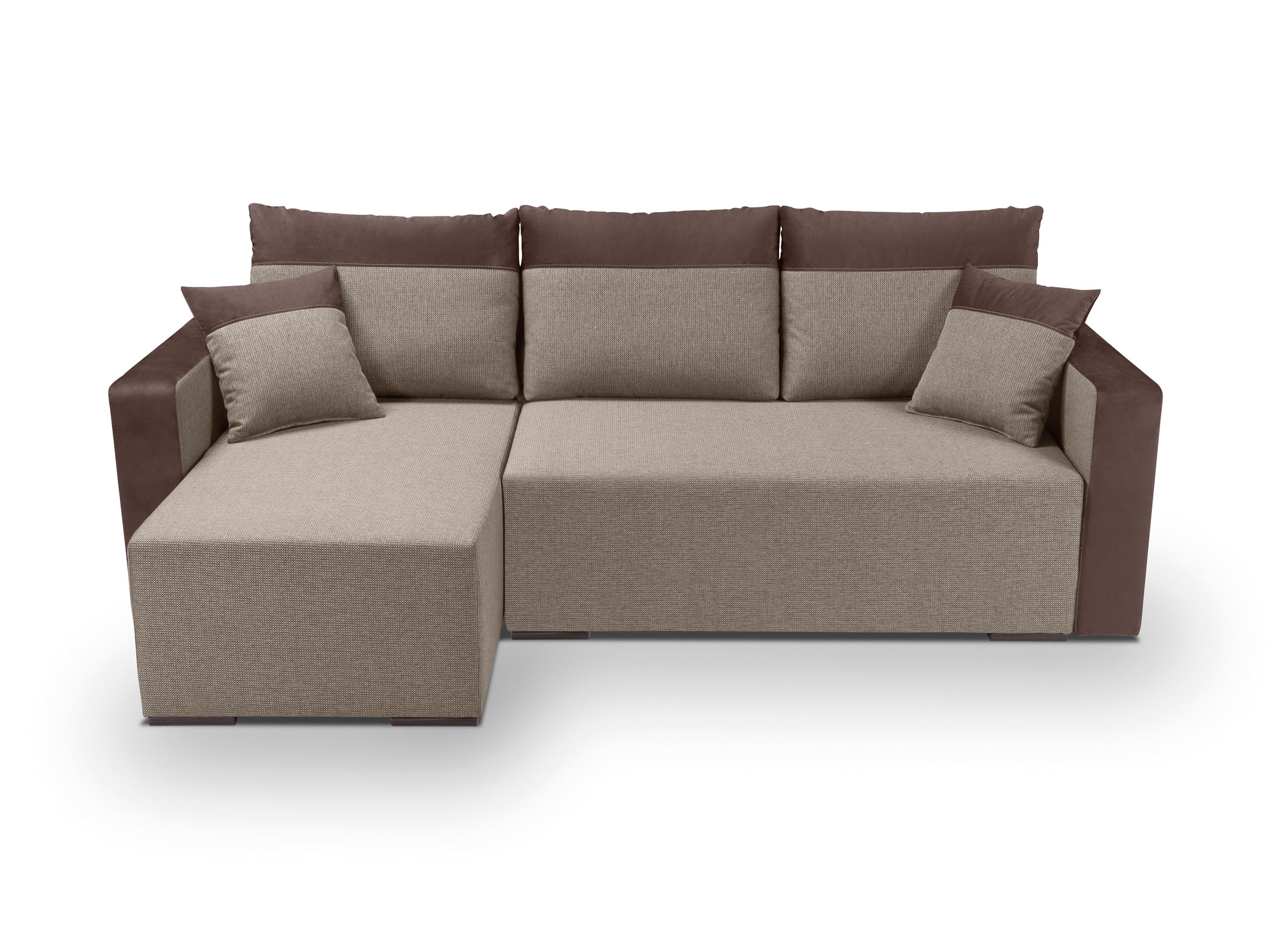 Rohová sedací souprava - BRW - Beti Lux 3DL.URC (béžová) (L)
