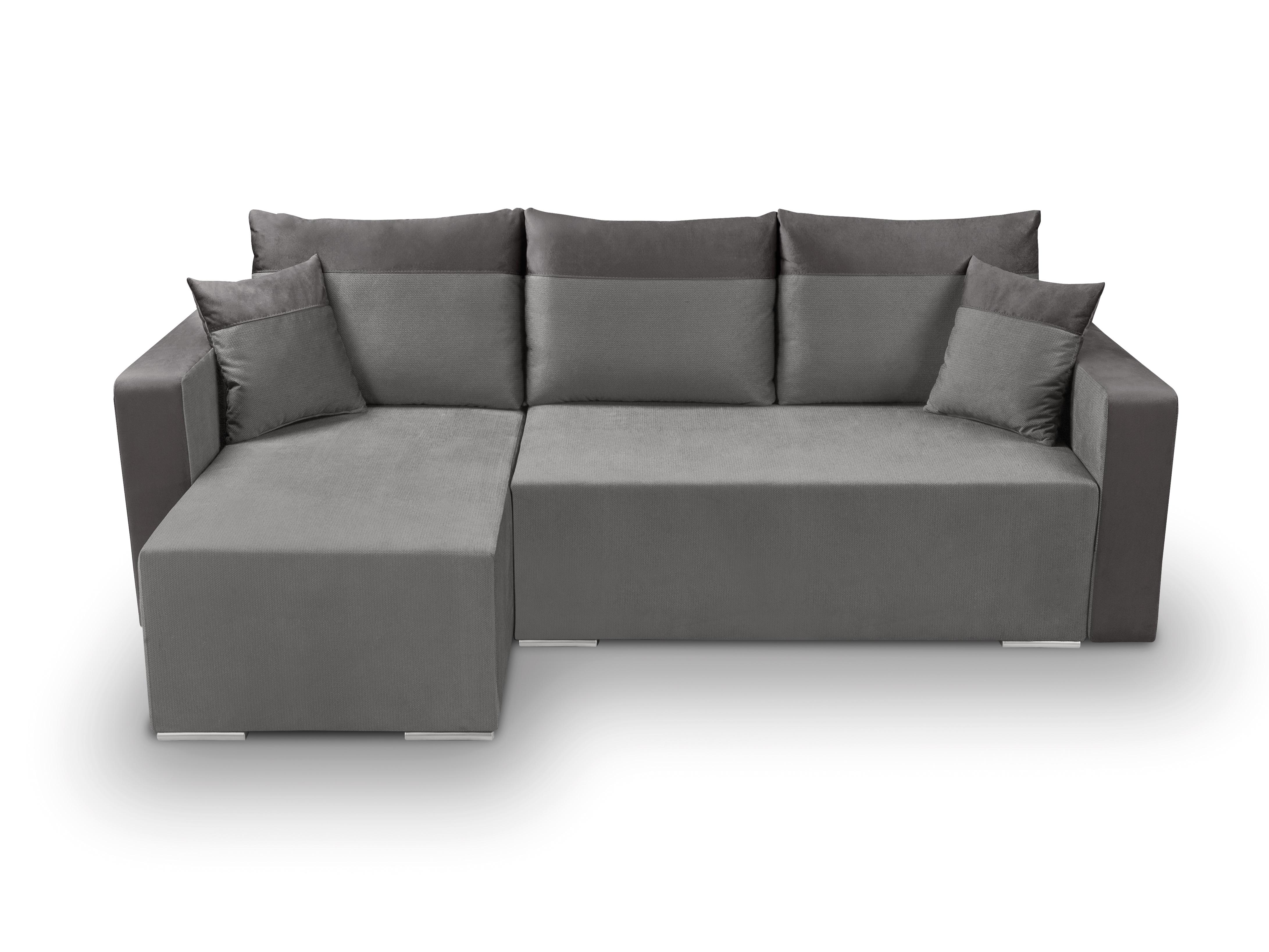 Rohová sedací souprava - BRW - Beti Lux 3DL.URC (šedá) (L)