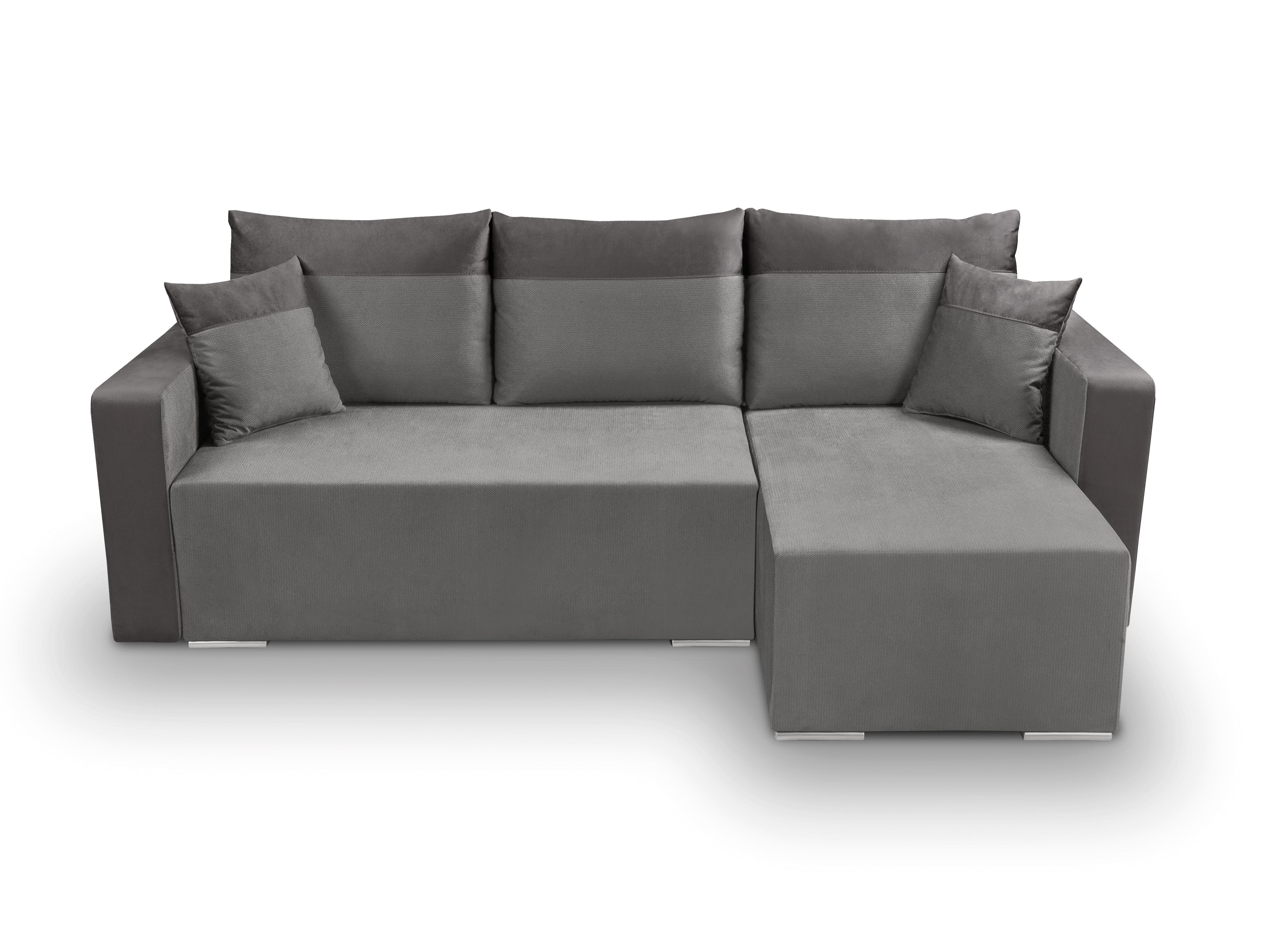Rohová sedací souprava - BRW - Beti Lux 3DL.URC (šedá) (P)