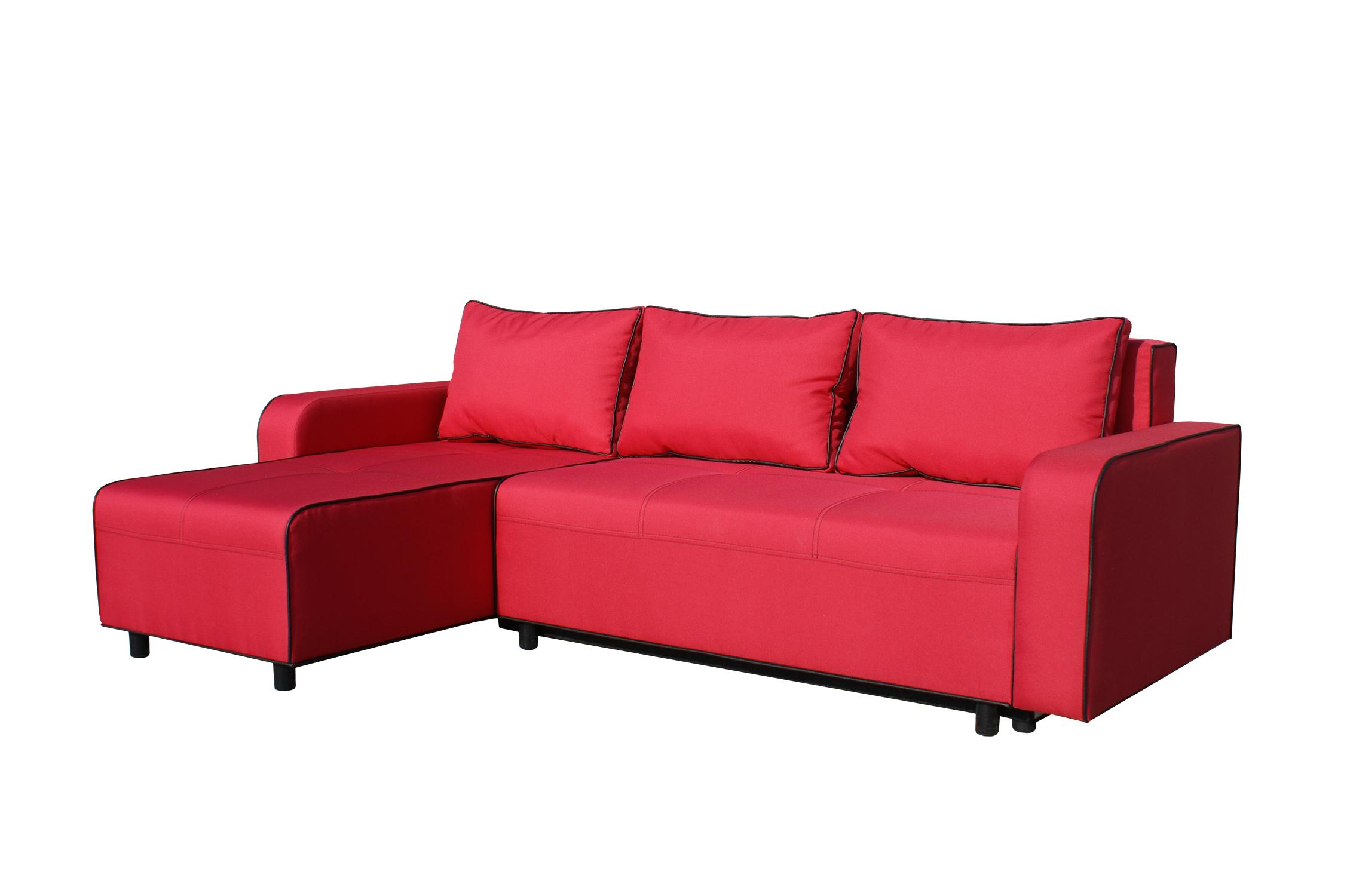 Rohová sedací souprava - BRW - Black 2 (červená) (L)