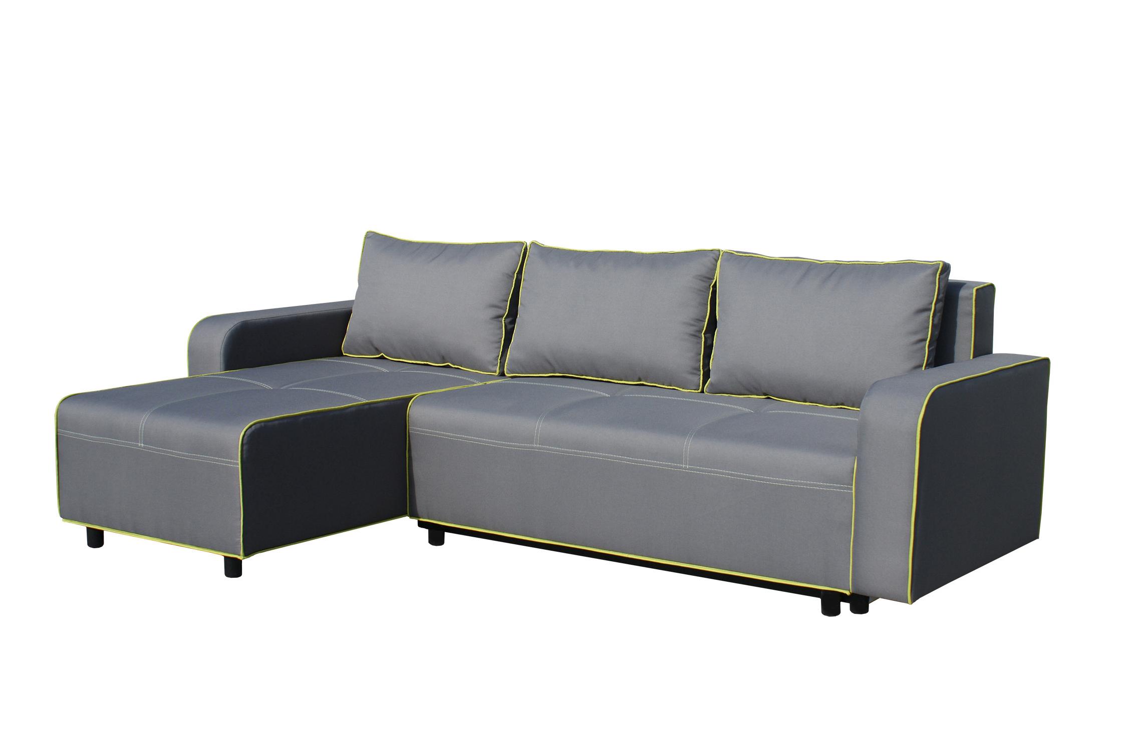 Rohová sedací souprava - BRW - Black 2 (L)