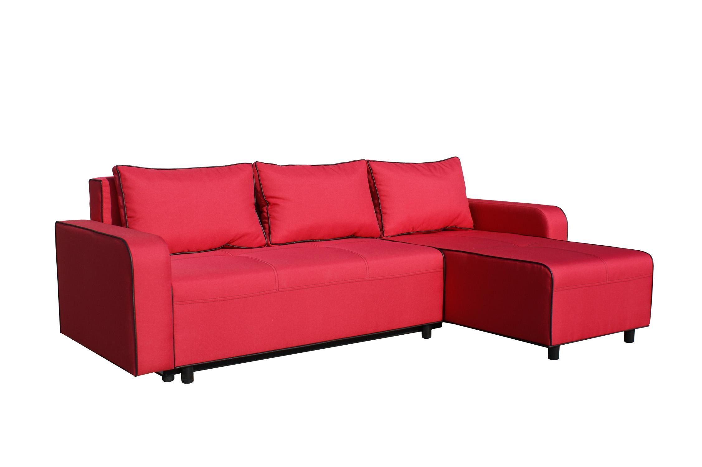 Rohová sedací souprava - BRW - Black 2 (červená) (P)